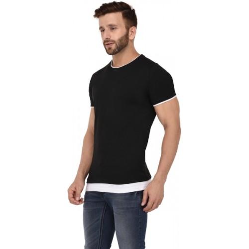 d8c3aa9e4 Buy Kay Dee Black Solid Men's Round Neck T-Shirt online | Looksgud.in