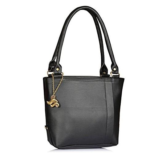 Fostelo Women's Combo Handbag & Clutch (Black & Black) (FSB-952-FC-29)