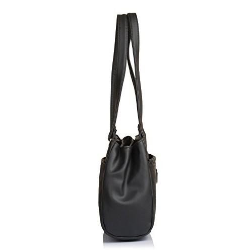 Fostelo Women's Combo Handbag & Clutch (Black & Black) (FSB-1063-FC-29)