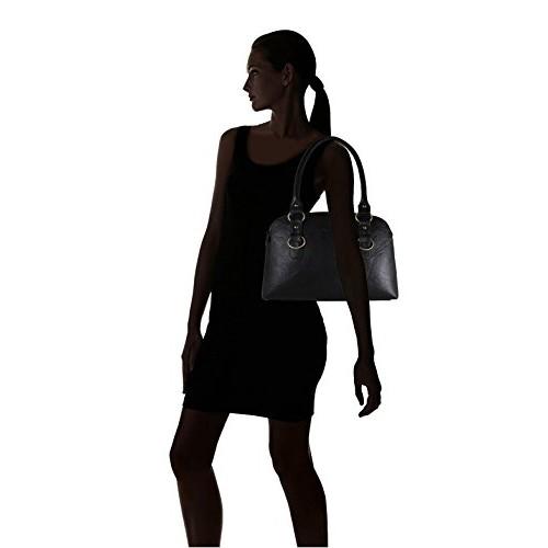 Fargo Joint PU Leather Women's & Girl's Shoulder Handbag (Black_FGO-003)