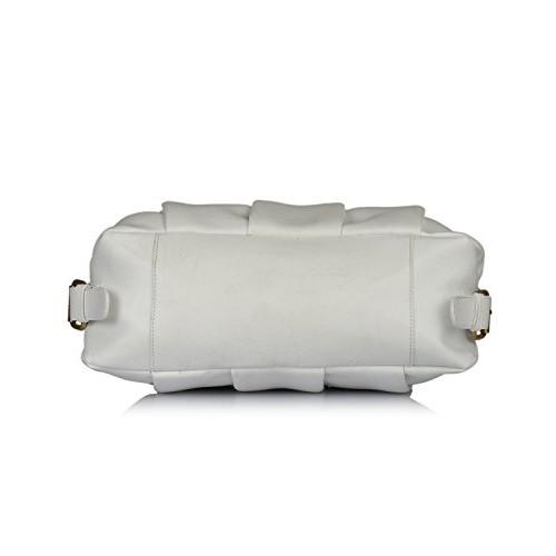 Fostelo White PU Solid Shoulder Bag