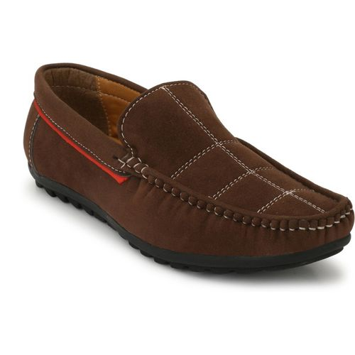 Levanse Brown Leather Loafer Shoes