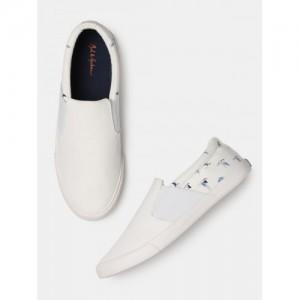 Mast & Harbour Men White Slip-On Casual Shoes