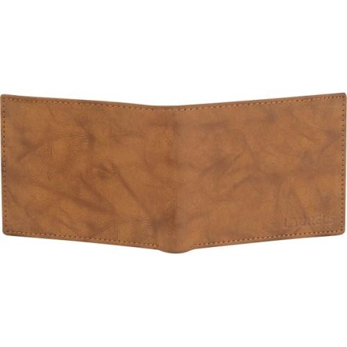 Laurels Beige Genuine Leather Solid Wallet