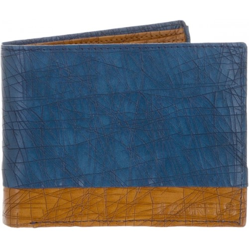 Laurels Blue Artificial Leather Solid Wallet