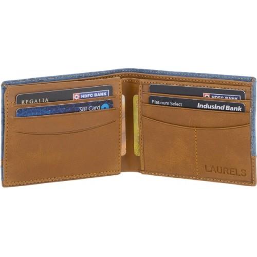 Laurels  Blue Artificial Leather Solid Wallet