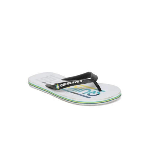 Quiksilver Men Black & White Printed Flip-Flops