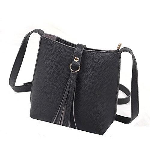 ... MOCA  Pretty Tassel Mini Small Bucket Crossbody Bag side bag Sling Bag  Shoulder bag Messenger ... 958b953f97013