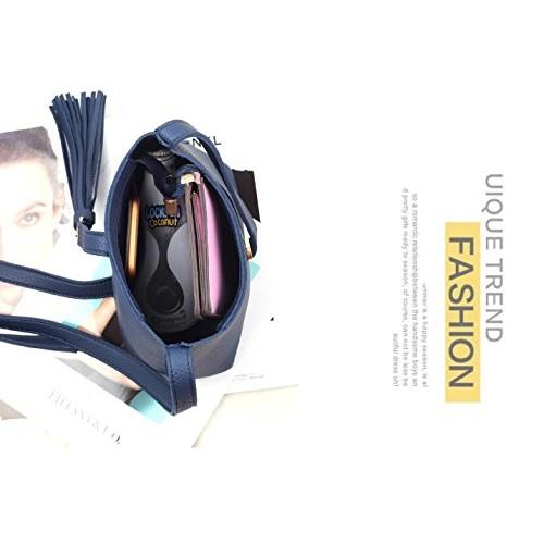 MOCA' Pretty Tassel Mini Small Bucket Crossbody Bag side bag Sling Bag Shoulder bag Messenger bag for Womens Women's Girls lady Bucket Sling bag Crossbody bag