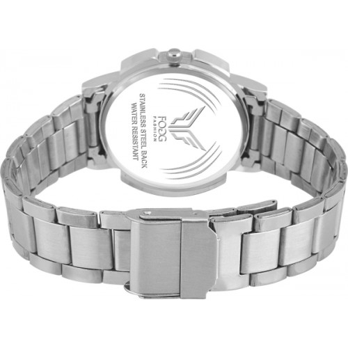 Fogg Silver Day and Date Analog Watch