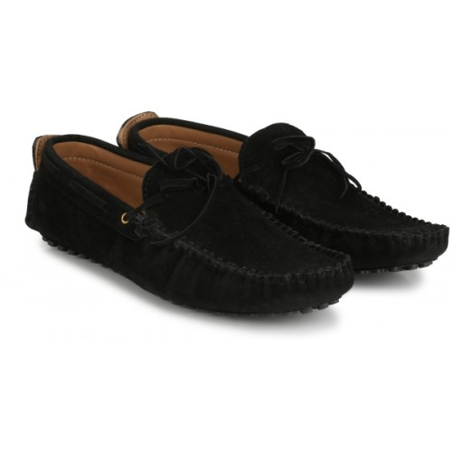 Big Fox Casual Kiltie Tassled Mocassin For Men(Black)