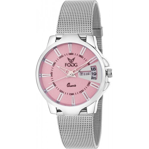 Fogg 4047-PK Day and Date Watch  - For Women