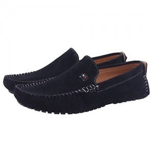 Butchi Bluestylish suede loafer shoes