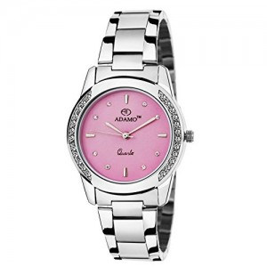 Adamo Analogue Pink Dial Women's Watch - A325SM06