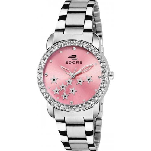 Edore Elegant Silver Watch  - For Women