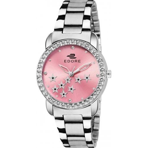 Edore Elegant Silver Watch  - For Women