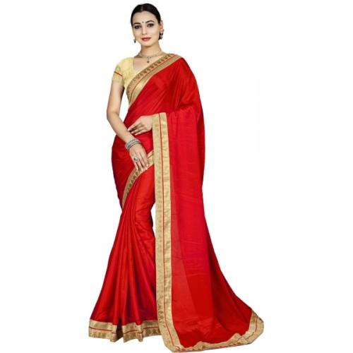 e44c13f782d243 ... Aai shree khodiyar Self Design, Plain, Solid Bollywood Chiffon Saree ...