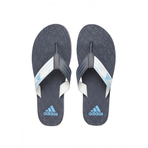 17a7387687c Buy Adidas Men Navy   Grey GADI Textured Thong Flip-Flops online ...