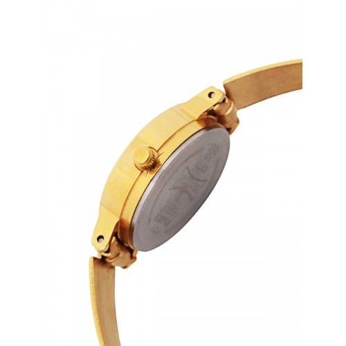 Sonata Women Gold-Toned & Black Analogue Watch 8096YM03C