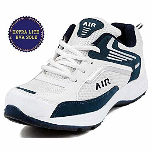 Ethics White Mesh Lace Up Running Shoes