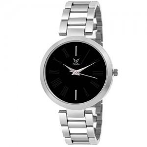 Fogg Analog Black Dial Women's Watch 4049-BK