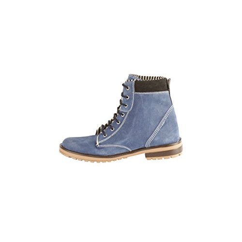 BACCA BUCCI MEN NAVY BLUE SUEDE LEATHER BOOTS