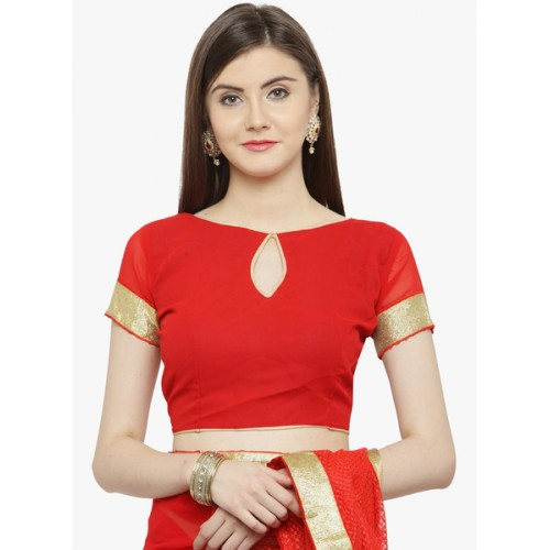 Shaily Red Embroidered Saree
