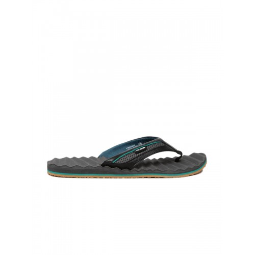 Duke Men Black & Grey Flip-Flops