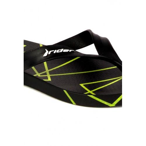 bcf022d49cda Buy Rider Rider Shape III Black   Lime Green Flip Flops online ...