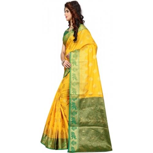 Shoppershopee Self Design Paithani Banarasi Silk, Art Silk Saree