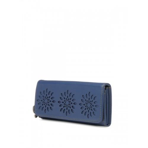 Butterflies Women Wallet (Blue) (BNS 2390BL)