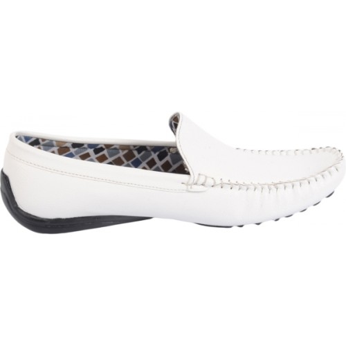 Butchi White Loafers For Men