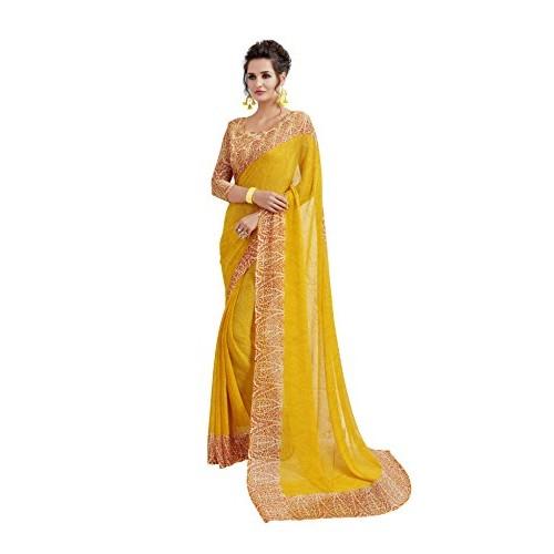 9d82a50b90fc68 Buy Vaamsi Chiffon Saree with Blouse Piece online
