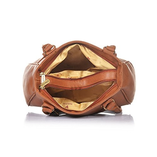 Fostelo Brown Polyurethane solid Handbag
