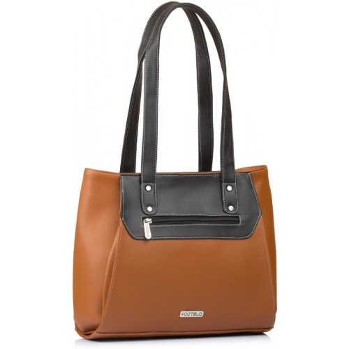 Fostelo Shoulder Bag(Tan, Black)