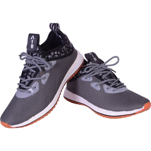 Shoebook Men Gray Lace-up Sneakers