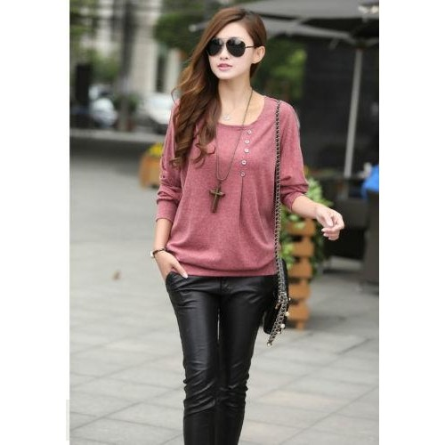 4e8fd1ad24b Buy  New Fashion Winter Loose Tops Batwing Sleeve online
