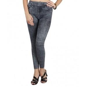 N-gal Gray Polyester Leggings