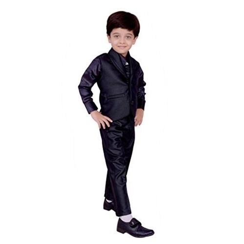 96a75b194 Buy Arshia Fashions Black Shirt Pant Waistcoat   Tie ethnic dresses ...