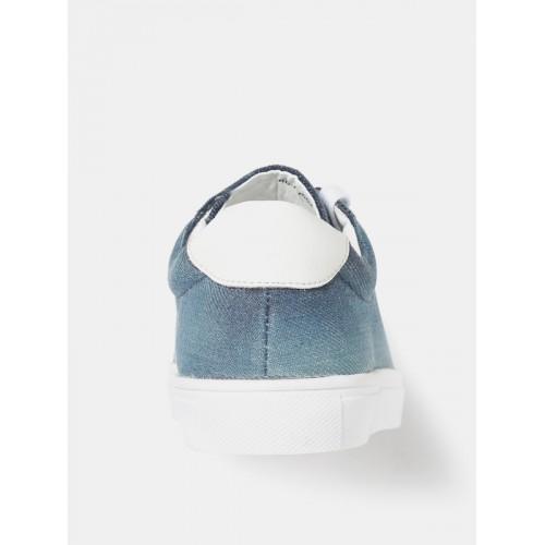 Roadster Women Blue Washed Denim Sneakers