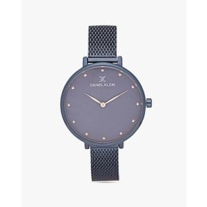 Daniel Klein Navy Blue Metal Round Watch