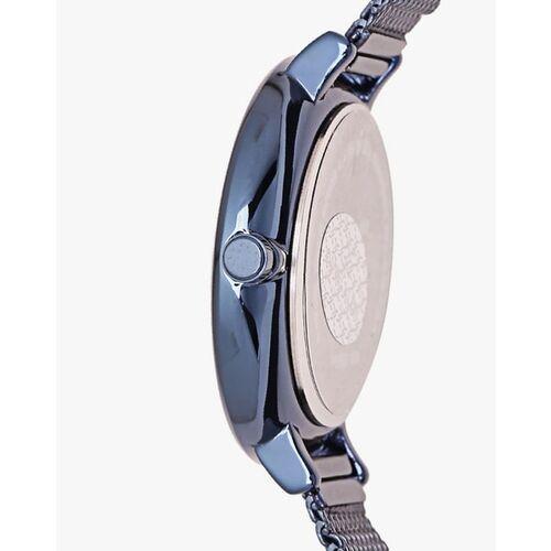 Daniel Klein Navy Blue Metal Round Watch