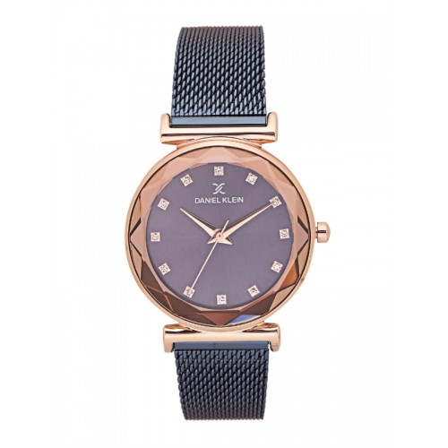 Daniel Klein Navy Blue round Analog Watch