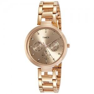 Timex Brown Analog Dial Women's Watch-TW000X209