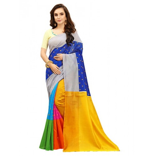 be3fb05b7 Buy Kala Laya Multi color Silk Printed Saree online