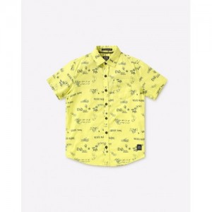 YB DNMX Printed Slim Fit Shirt