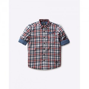 YB DNMX Checked Shirt with Roll-Tab Sleeves