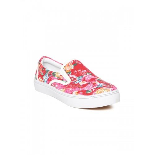 Carlton London Floral Print Slip-On Casual Shoes