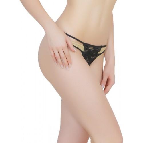 Madaam Women's G-string Black Panty