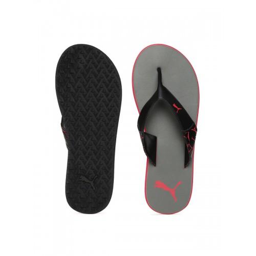 Buy Puma Unisex Black   Grey Winglet II DP Flip-Flops online ... 2a6f834d2